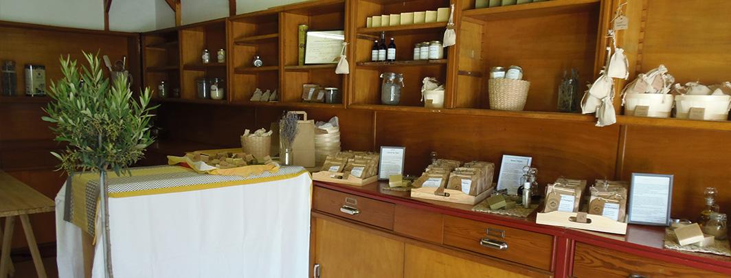 La boutique de la savonnerie d'Émilie