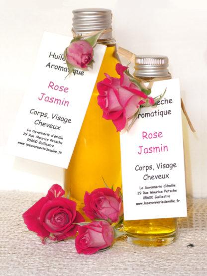 Huile sèche aromatique rose et jasmin