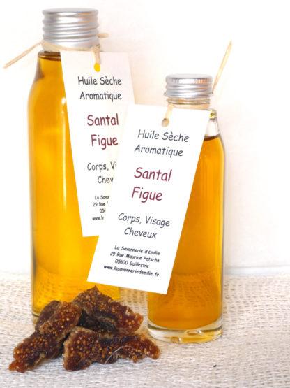 Huile sèche aromatique santal figue